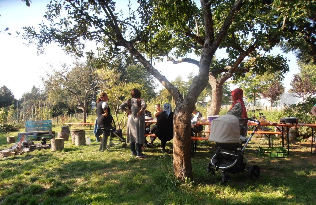 Treff der türkischen Gärtnerinnen
