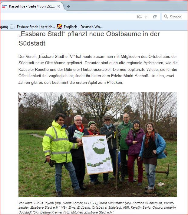 Essbare Stadt pflanzt in der Südstadt-Kassel-live20.11.15