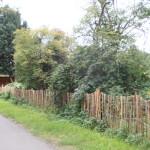 Staketenzaun, gespendet von der Walter-Heilwagen-Stiftung und Essbare Stadt e.V.
