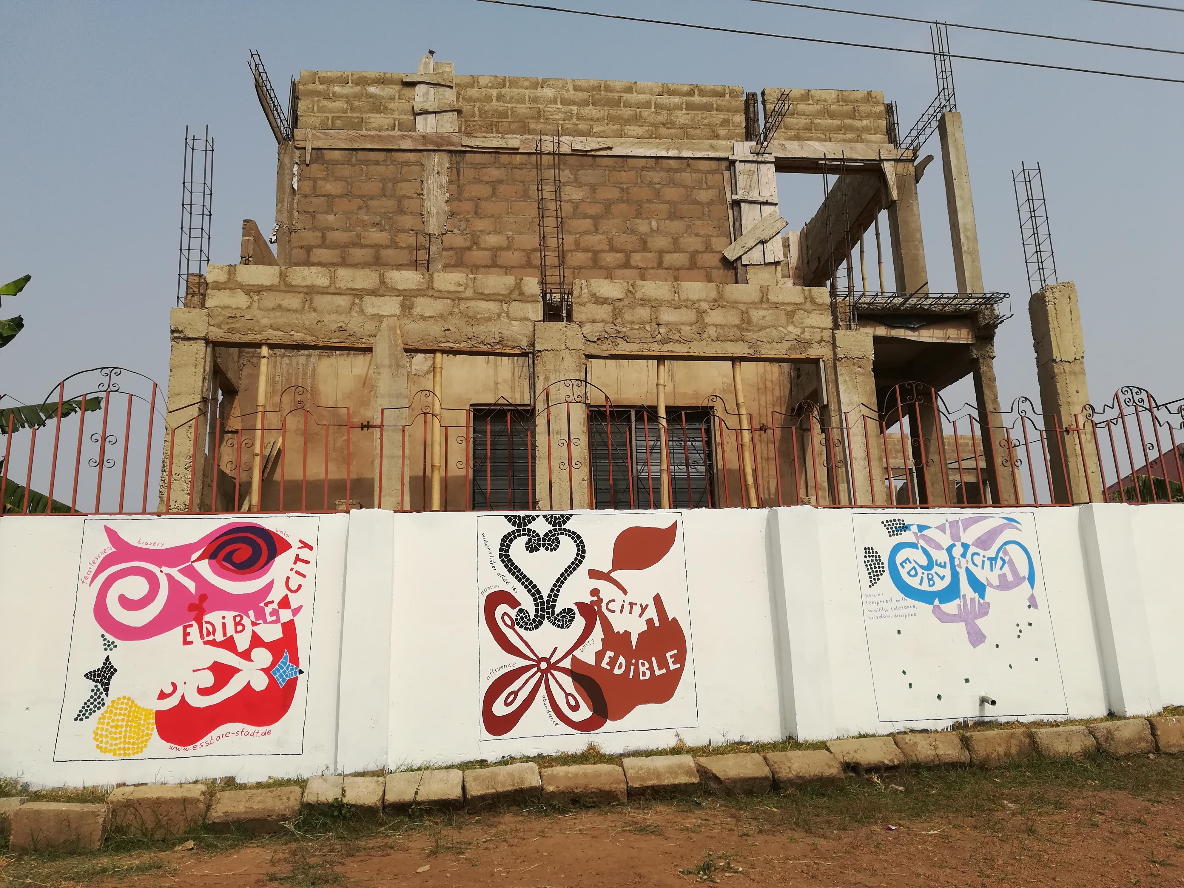 Essbare Stadt Malgruppe Ghana/Accra