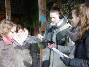 Interviewszene Audio-Walk ForstFeldGarten Feb 2019