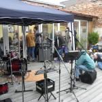 WM-Lounge, die live-Musik muß warten