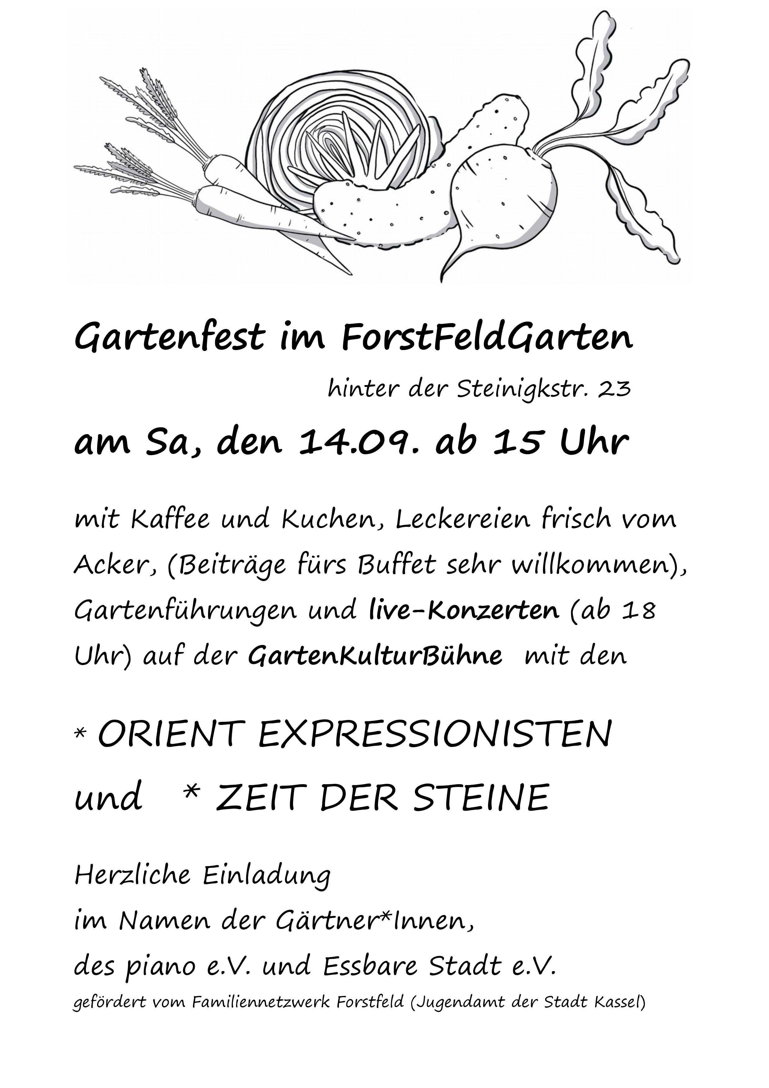 Einladung ForstFeldGarten-Fest 14.9.