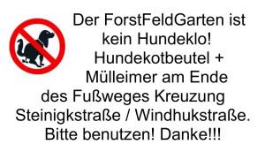 Hinweis Forstfeld Hundeklo