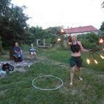Feuershow von Projektteilnehmerin Cid