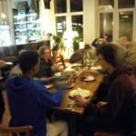 Mahlzeit im Sandershaus