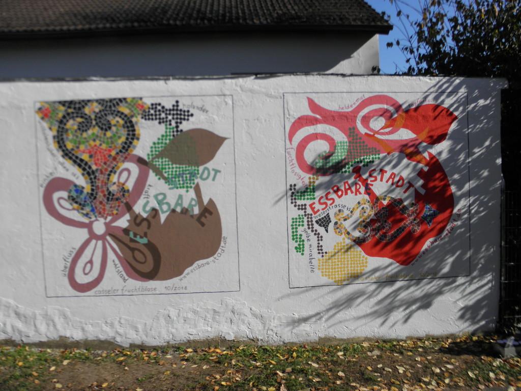 die ersten Wandbilder nahe der Kohlenstraße