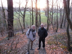 mit Prof. Gerken und Gastronom Koch im Eichwald, Bettenhausen