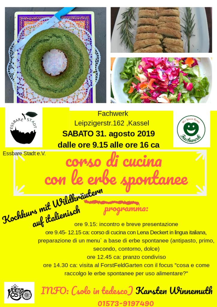 Kochkurs mit Wildkräutern auf ITALIENISCH